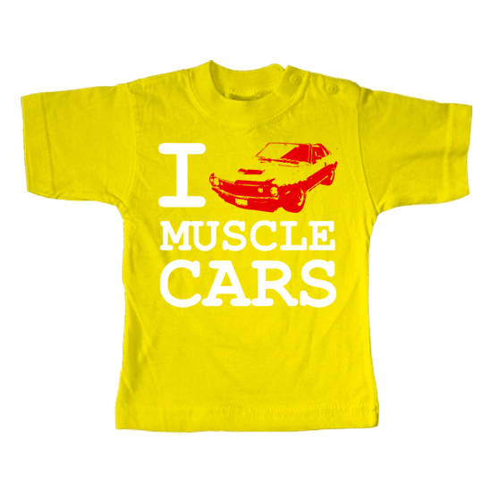 I Love Muscle Cars  - Lustiges T-Shirt
