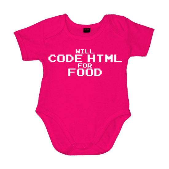 Code Html for Food Geek  - Lustiger Babybody