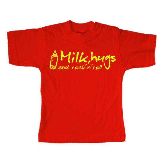 Milk Hugs and Rock n Roll  - Lustiges T-Shirt