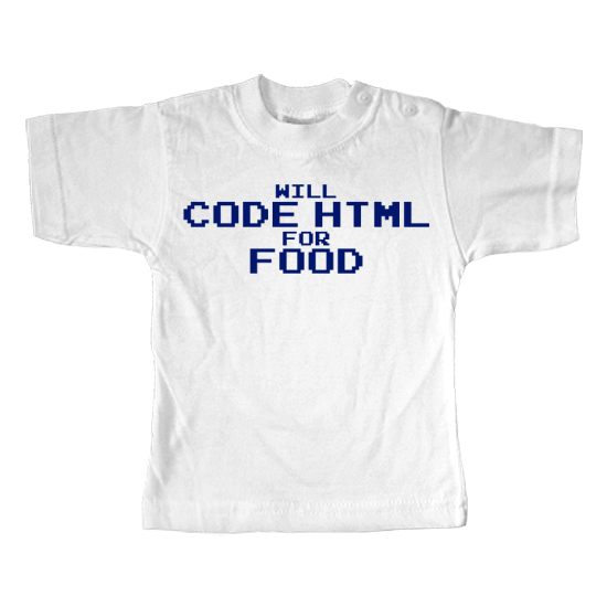 Code Html for Food Geek  - Lustiges T-Shirt